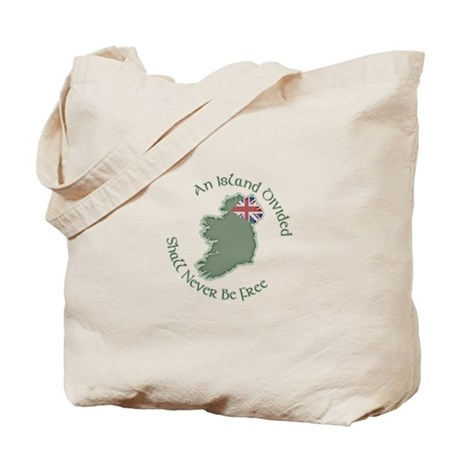 An Island Divided Tote Bag