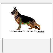 Tangle German Shepherd Yard Sign