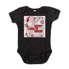 Funny Christmukkah Baby Bodysuit