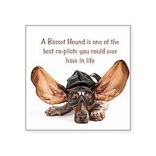 "Cool Hound rescue Square Sticker 3"" x 3"""