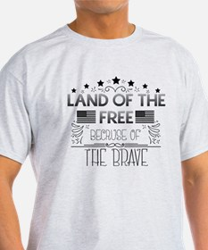 Land of the Free, Because of the Bra T-Shirt
