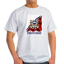Cute Us coast guard flag T-Shirt