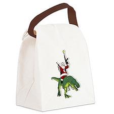 Cute Dinosaur humor Canvas Lunch Bag