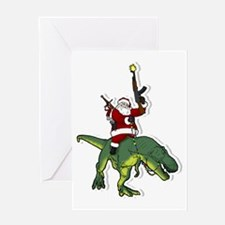 Unique Dinosaur christmas Greeting Card