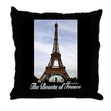 Eifel Tower Throw Pillow
