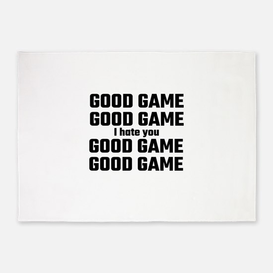Good Game, Good Game, I Hate You, G 5'x7'Area Rug