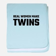 Real Women Make Twins baby blanket