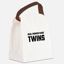 Real Women Make Twins Canvas Lunch Bag