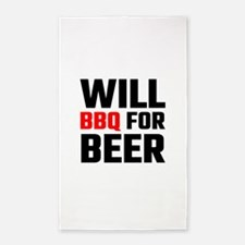 Will BBQ For Beer Area Rug