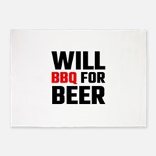 Will BBQ For Beer 5'x7'Area Rug