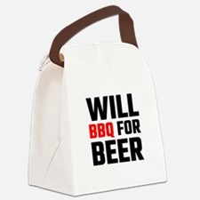 Will BBQ For Beer Canvas Lunch Bag