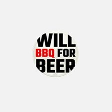 Will BBQ For Beer Mini Button