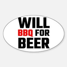 Will BBQ For Beer Decal