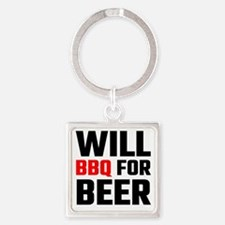 Will BBQ For Beer Keychains