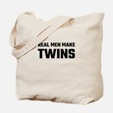 Real Men Make Twins Tote Bag