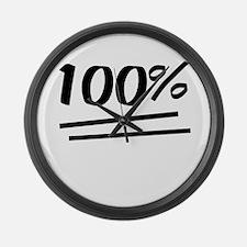 100 Percent Large Wall Clock