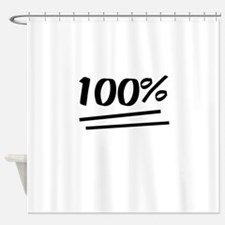 100 Percent Shower Curtain