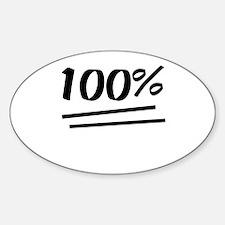 100 Percent Decal