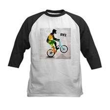 BMX Rider with Abstract Paint Splo Baseball Jersey
