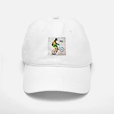 BMX Rider with Abstract Paint Splotches Colori Baseball Baseball Cap