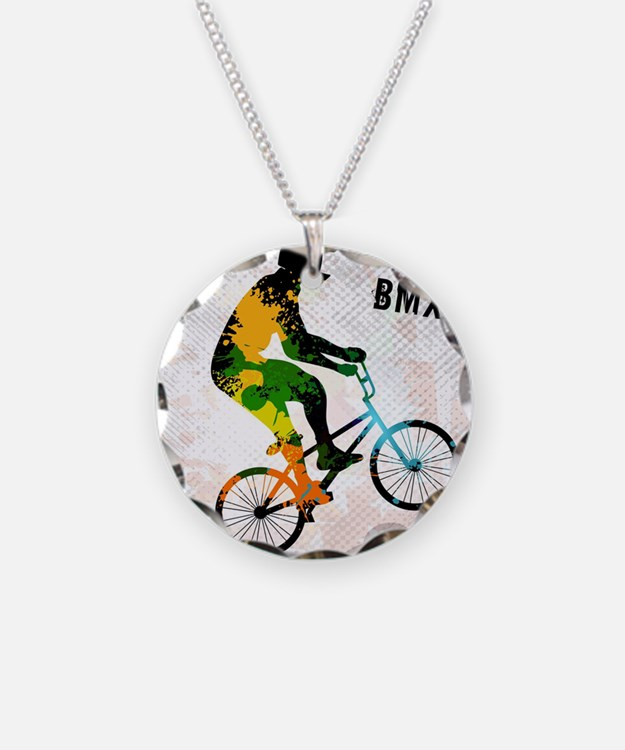BMX Rider with Abstract Pain Necklace
