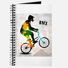 BMX Rider with Abstract Paint Splotches Co Journal