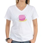 Big Pink Taffy Women's V-Neck T-Shirt