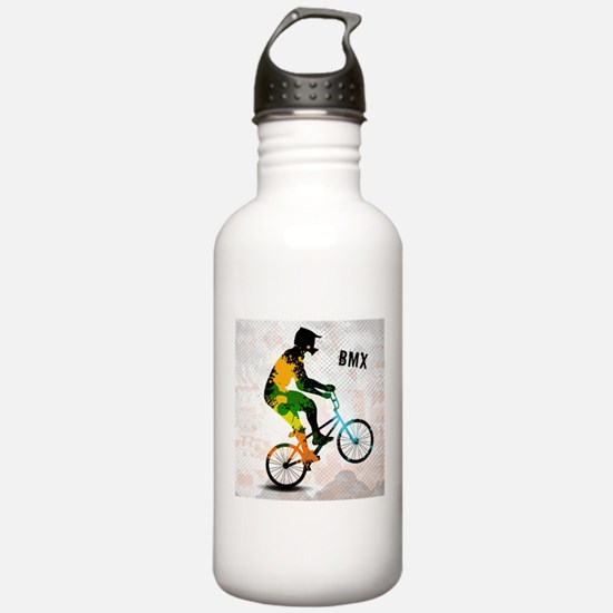 BMX Rider with Abstrac Water Bottle