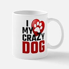 I Love My Crazy Dog Mugs