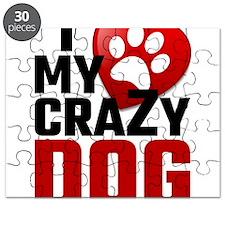 I Love My Crazy Dog Puzzle