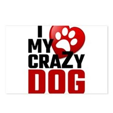 I Love My Crazy Dog Postcards (Package of 8)