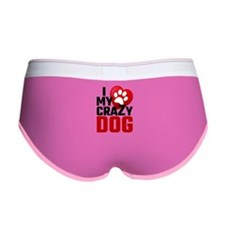 I Love My Crazy Dog Women's Boy Brief