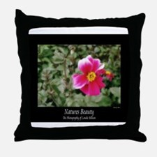 Natures Beauty In Pink Throw Pillow