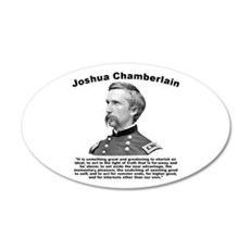 Chamberlain: Greatness 35x21 Oval Wall Decal