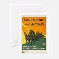 WWI Enlist in Field Artillery Army P Greeting Card