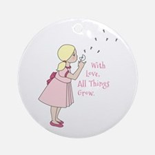 All Thing Grow Round Ornament