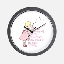 Seeds of Today Wall Clock