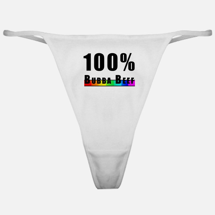 100% BUBBA BEEF GAY PRIDE Classic Thong