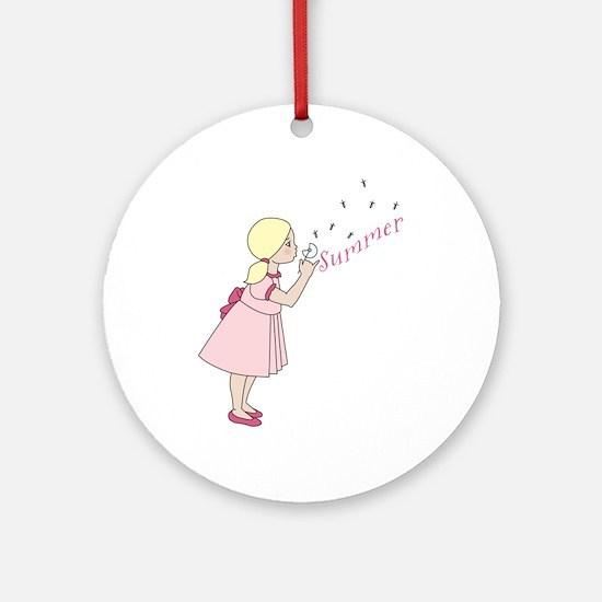 Summer Dandelion Round Ornament