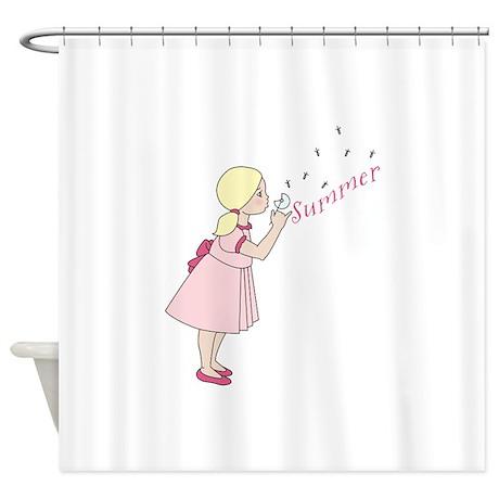 summer dandelion shower curtain