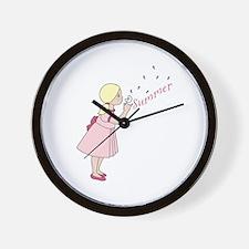 Summer Dandelion Wall Clock