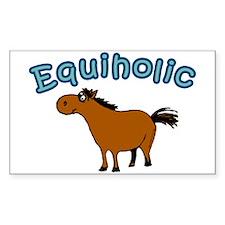 Equiholic. Horse Addict Rectangle Decal