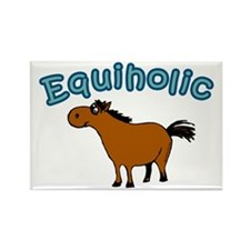 Equiholic. Horse Addict Rectangle Magnet