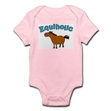 Equiholic. Horse Addict Infant Bodysuit