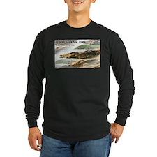 Acadia National Park Coastline Long Sleeve T-Shirt
