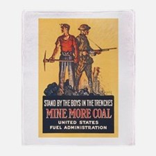 Fuel Administration WWI Coal Mining Throw Blanket