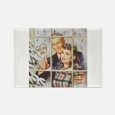 Cool Pin up Rectangle Magnet