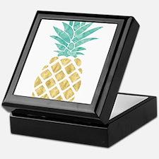 Golden Pineapple Keepsake Box