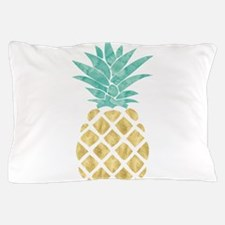 Golden Pineapple Pillow Case