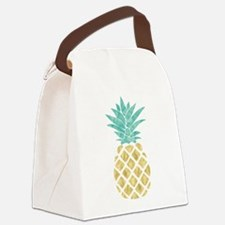 Golden Pineapple Canvas Lunch Bag